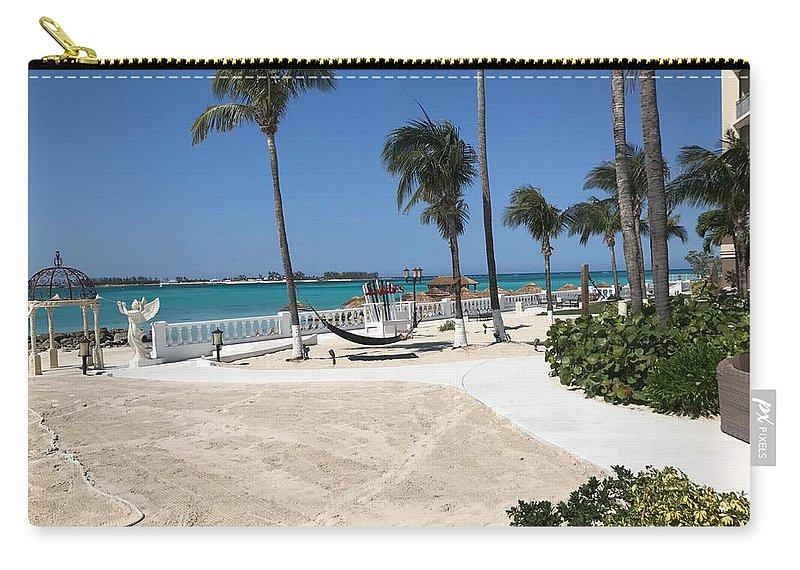 Patio Carry-all Pouch featuring the photograph Beachfront Patio by Alex Creighton