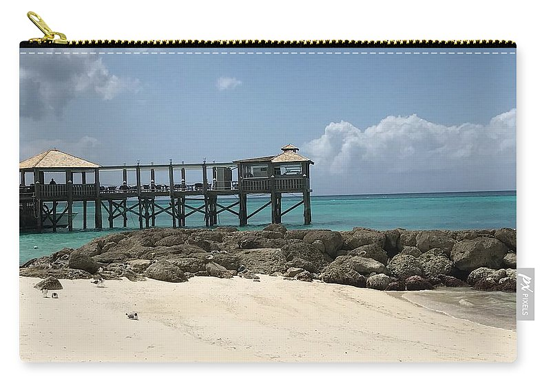 Jetty Carry-all Pouch featuring the photograph Beachfront Pier by Alex Creighton