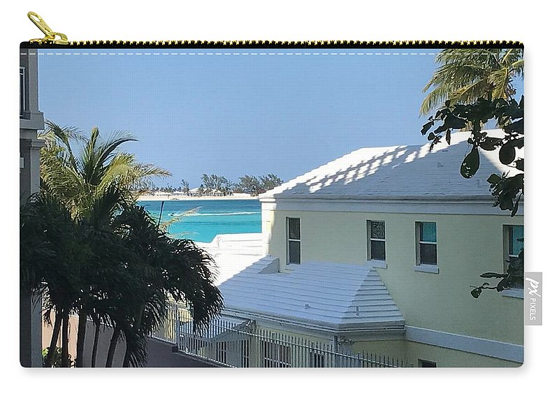 House Carry-all Pouch featuring the photograph Beachfront Property by Alex Creighton