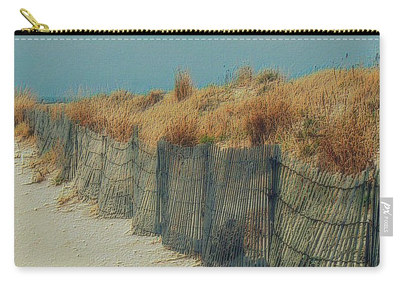 Beac Carry-all Pouch featuring the photograph Beachside by Linda Sannuti