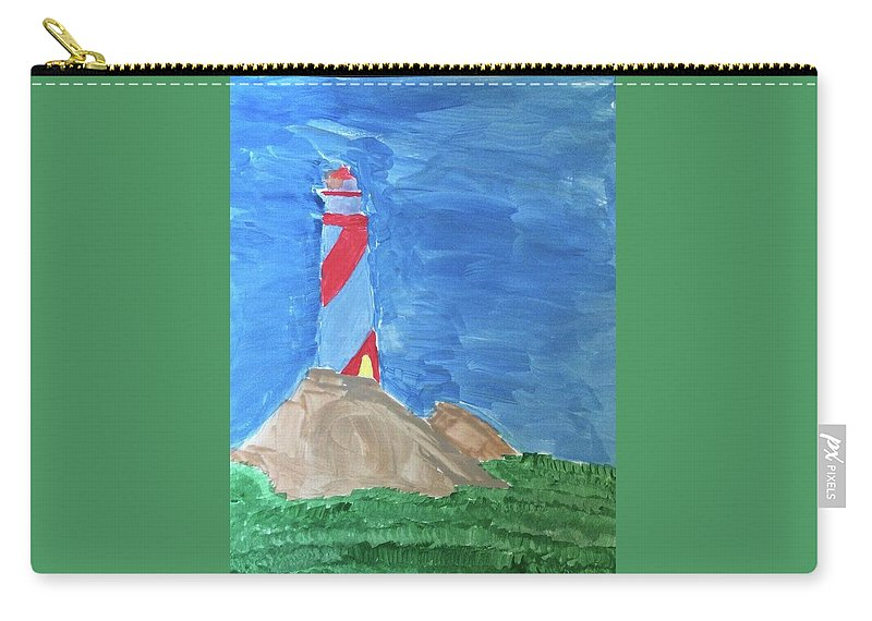 Landscape Carry-all Pouch featuring the painting Beacon In Te Field by Thom Futrell