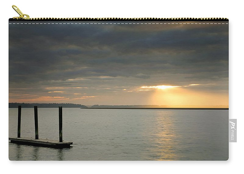 Blue Carry-all Pouch featuring the photograph Beam Me Up by Phill Doherty