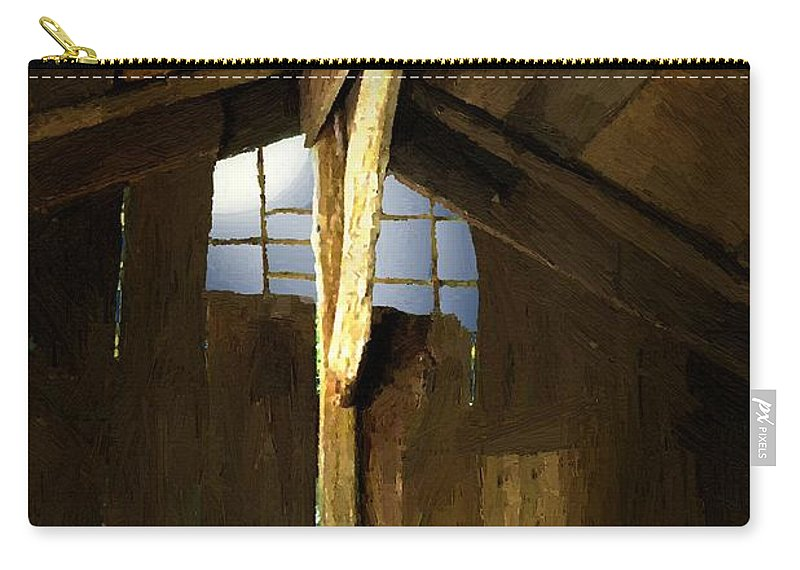 Barn Carry-all Pouch featuring the painting Beam Me Up by RC DeWinter