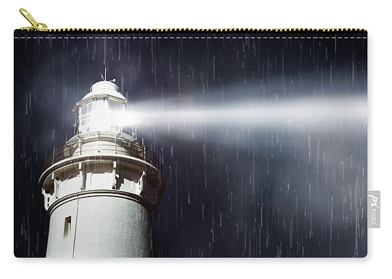 Nautical Carry-all Pouch featuring the photograph Beaming Lighthouse by Jorgo Photography - Wall Art Gallery