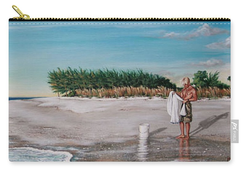 Beach Carry-all Pouch featuring the painting Bean Point by Joan Garcia