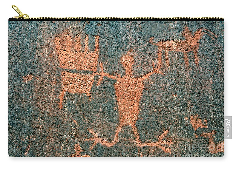 Ute Carry-all Pouch featuring the photograph Bear Clan Horse Rider by David Lee Thompson