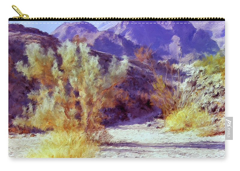 Desert Carry-all Pouch featuring the painting Bear Creek Trail by Dominic Piperata
