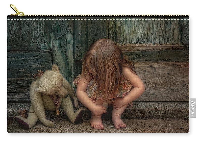 Bear Carry-all Pouch featuring the photograph Bear Feet by Robin-Lee Vieira