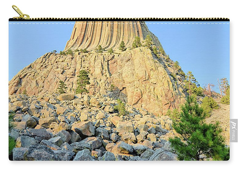 Tower Carry-all Pouch featuring the photograph Bear Lodge by Bonfire Photography