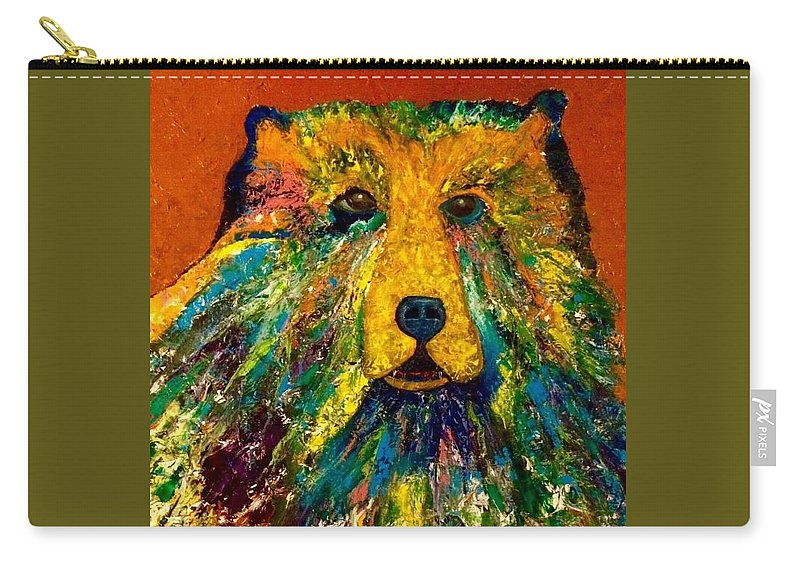 Abstract Carry-all Pouch featuring the painting Bear by Richard Gagne