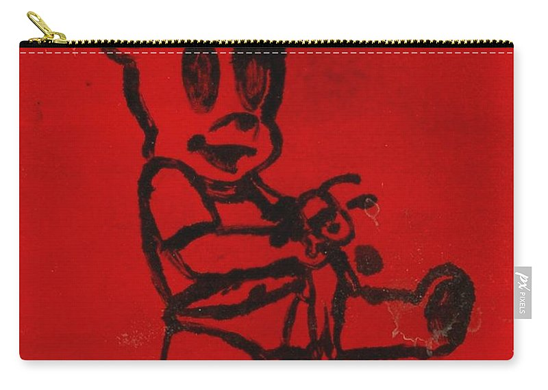 Clay Carry-all Pouch featuring the painting Bear by Thomas Valentine