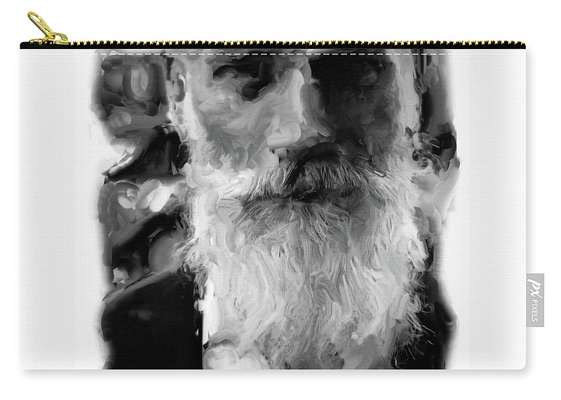 People Carry-all Pouch featuring the photograph Bearded Man by Gary Wilson