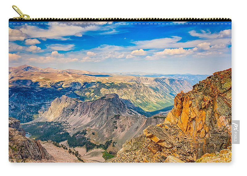 Adventure Carry-all Pouch featuring the photograph Beartooth Highway Scenic View by John M Bailey