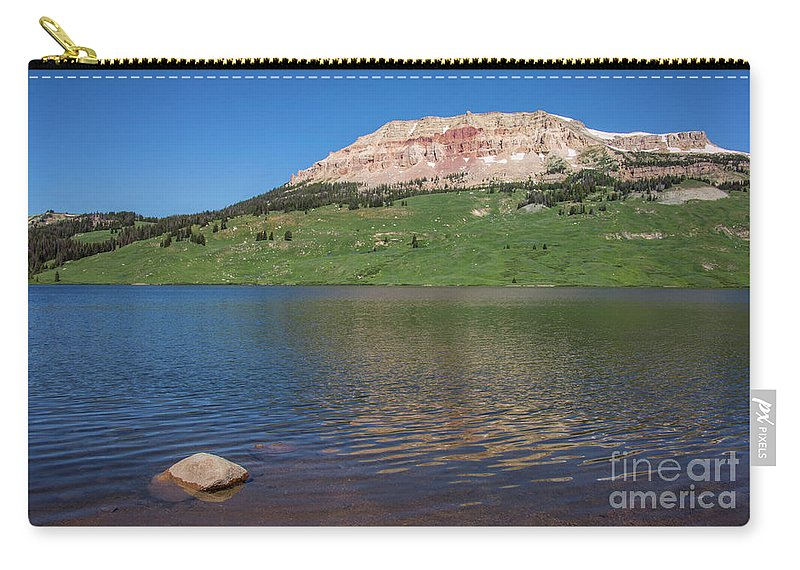 Beartooth Highway Carry-all Pouch featuring the photograph Beartooth Lake by Carolyn Fox