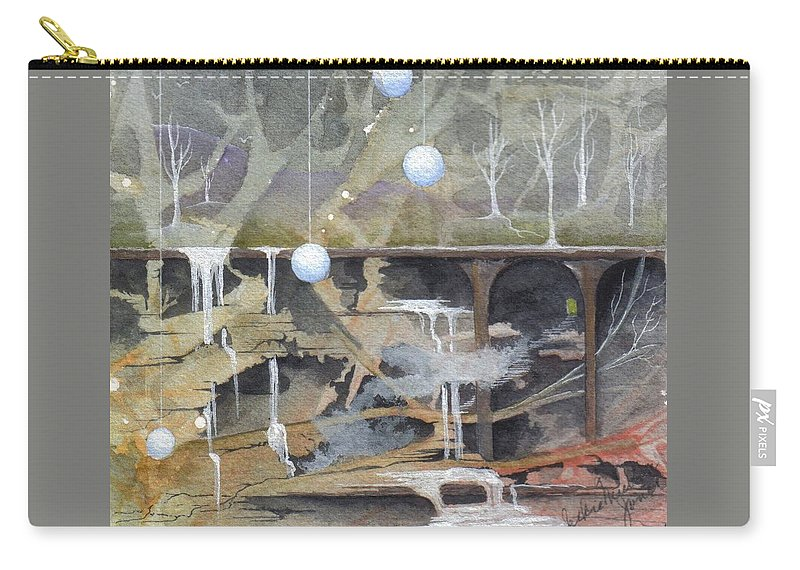 Fantasy Landscape Carry-all Pouch featuring the painting Beata's Destiny by Jackie Mueller-Jones