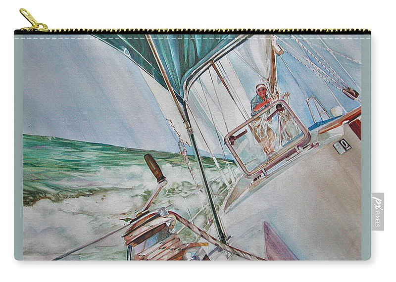 Sailing Carry-all Pouch featuring the painting Beating Windward by P Anthony Visco
