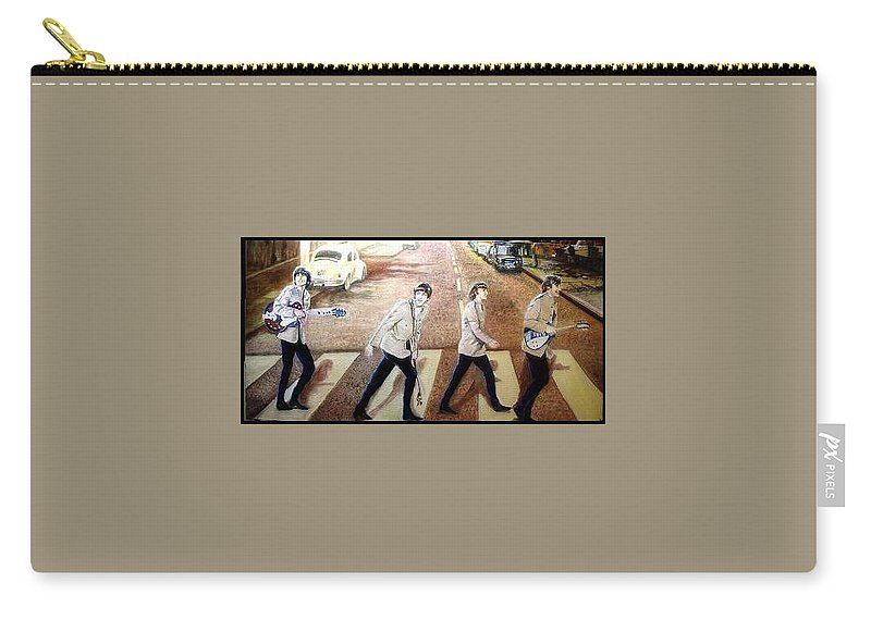 Beatles Original Paintings Carry-all Pouch featuring the painting Beatles Other Abbey Road by Leland Castro