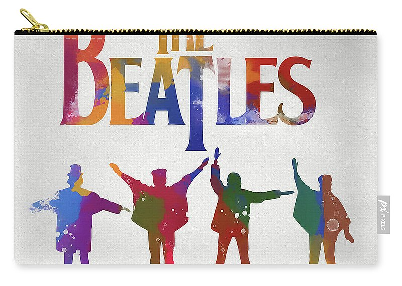 Beatles Watercolor Poster Carry-all Pouch featuring the painting Beatles Watercolor Poster by Dan Sproul