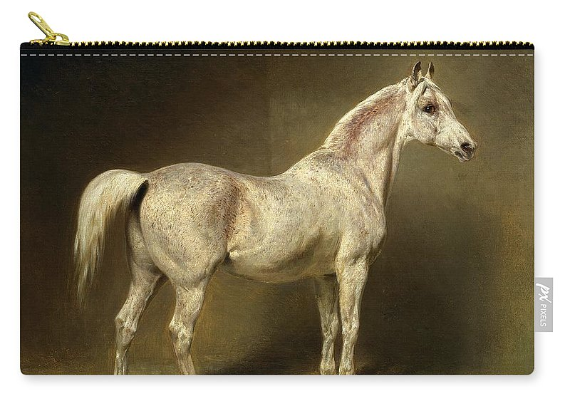 Carry-all Pouch featuring the painting Beatrice by Carl Constantin Steffeck