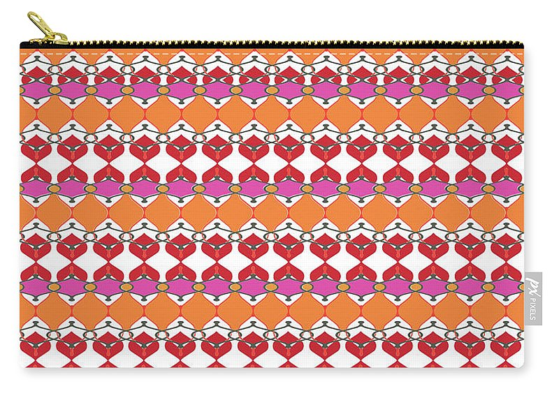 Pink Carry-all Pouch featuring the digital art Beaumont by Ceil Diskin