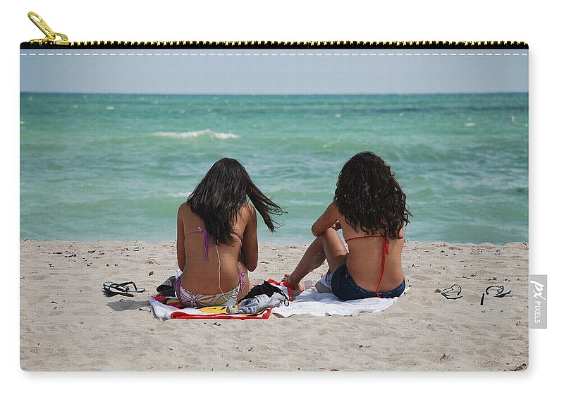 Women Carry-all Pouch featuring the photograph Beauties On The Beach by Rob Hans