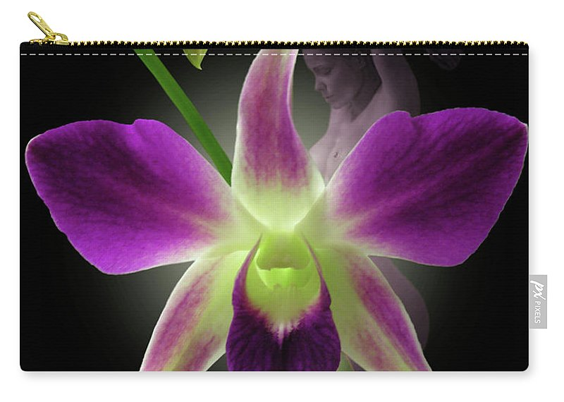 Fleurotica Art Carry-all Pouch featuring the digital art Beauties by Torie Tiffany