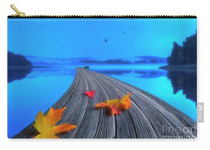 Artist Carry-all Pouch featuring the photograph Beautiful Autumn Morning by Veikko Suikkanen