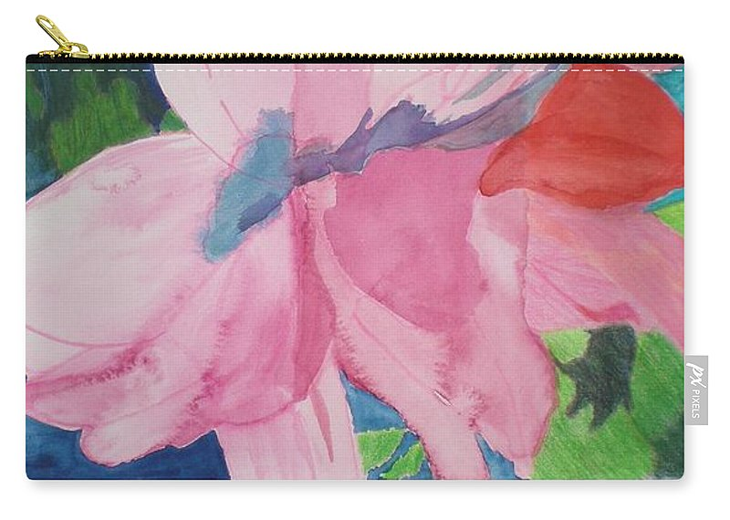 Flower Carry-all Pouch featuring the painting Beautiful Azalea by Hal Newhouser