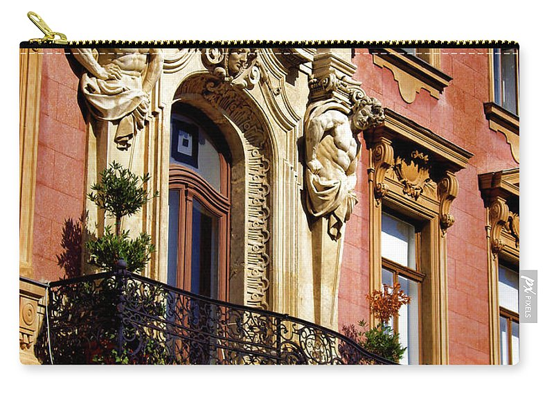 Beautiful Balcony In Austria Carry-all Pouch featuring the photograph Beautiful Balcony In Austria by Mariola Bitner