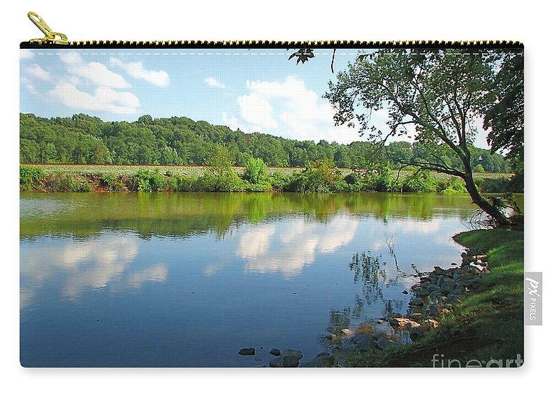 Landscape Carry-all Pouch featuring the photograph Beautiful Blue Water by Todd A Blanchard