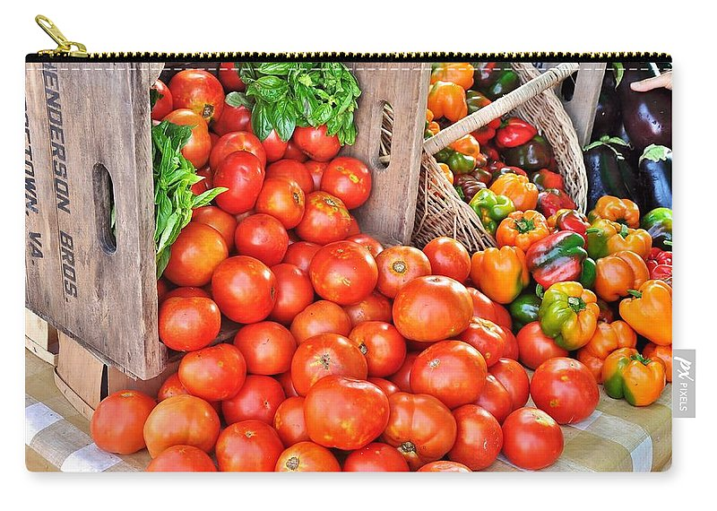 Vegetable Carry-all Pouch featuring the photograph The Bountiful Harvest At The Farmer's Market by Kim Bemis