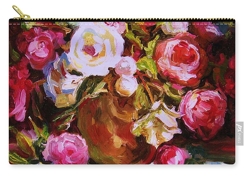 Roses Carry-all Pouch featuring the painting Beautiful Bouquet by Carole Spandau
