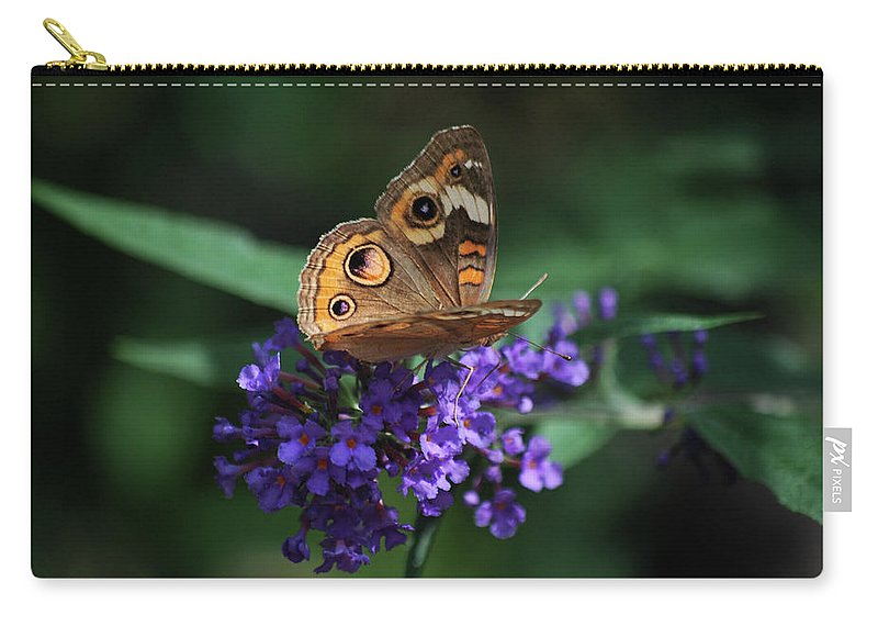 Butterfly Carry-all Pouch featuring the photograph Beautiful Buckeye by Lori Tambakis