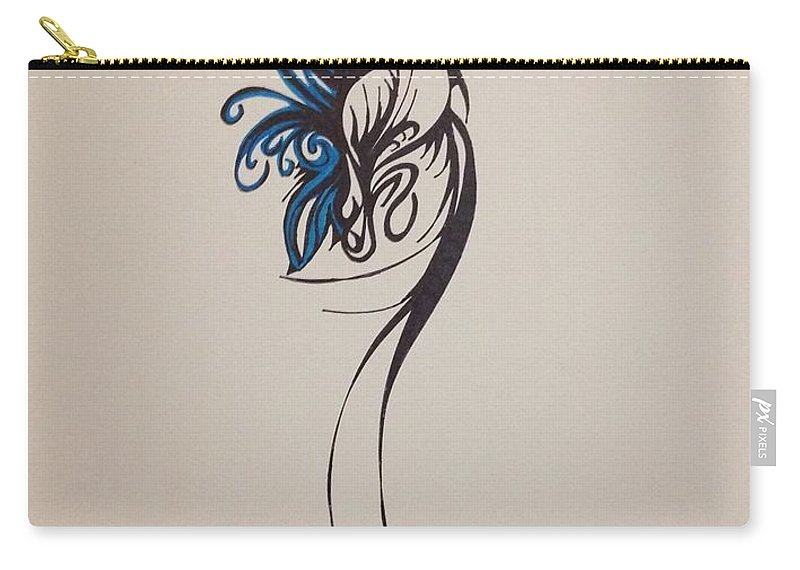 Abstract Carry-all Pouch featuring the drawing Beautiful by D Wood