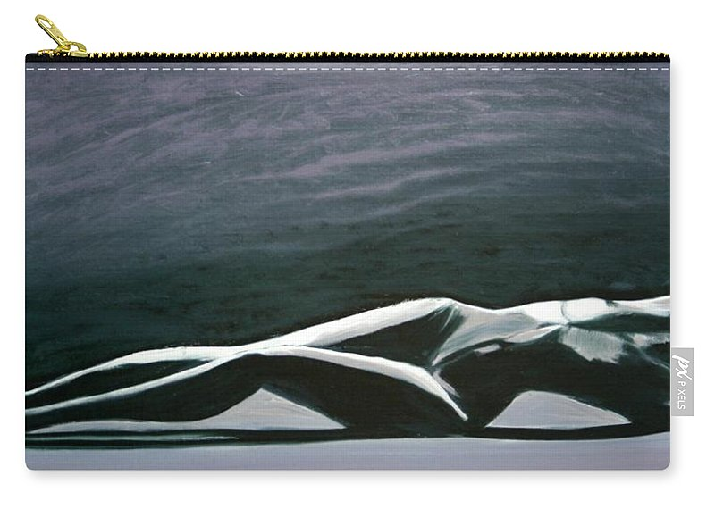 Art Carry-all Pouch featuring the painting Beautiful Diver by Jarmo Korhonen aka Jarko