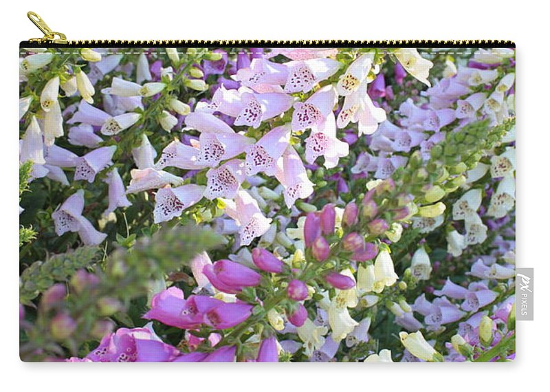 Foxglove Carry-all Pouch featuring the photograph Beautiful Foxglove by Carol Groenen