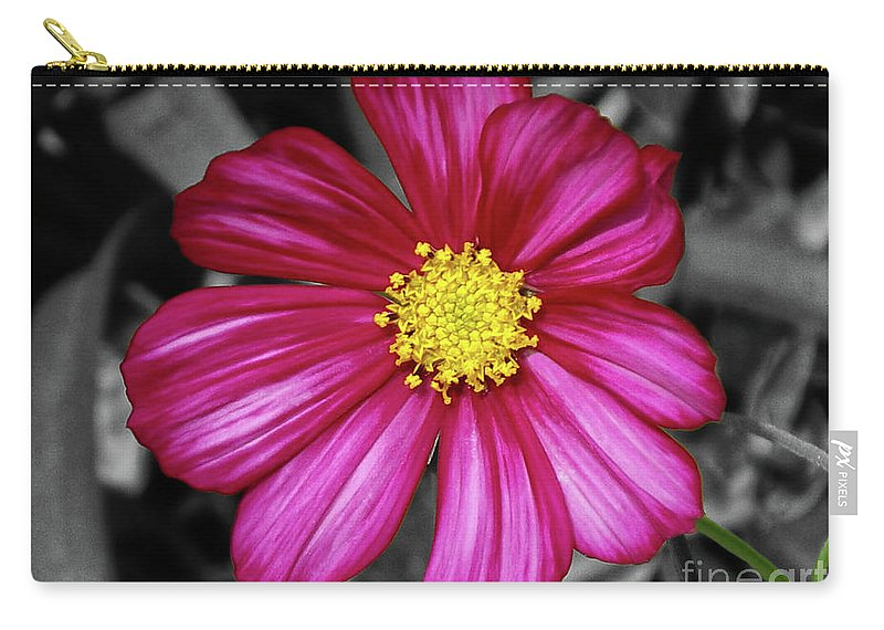 Flower Carry-all Pouch featuring the photograph Beautiful Fuchsia Flower by Mariola Bitner