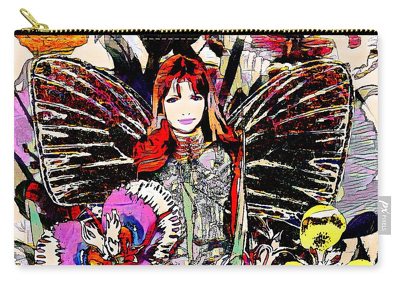 Flowers Carry-all Pouch featuring the mixed media Beautiful Life by Amelia Carrie
