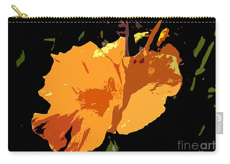 Flower Carry-all Pouch featuring the photograph Beautiful Orange Work Number 19 by David Lee Thompson