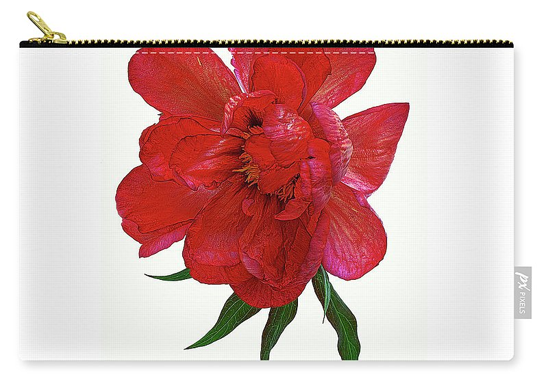 Beautiful Carry-all Pouch featuring the photograph Beautiful Peony Flower. by Alexander Vinogradov