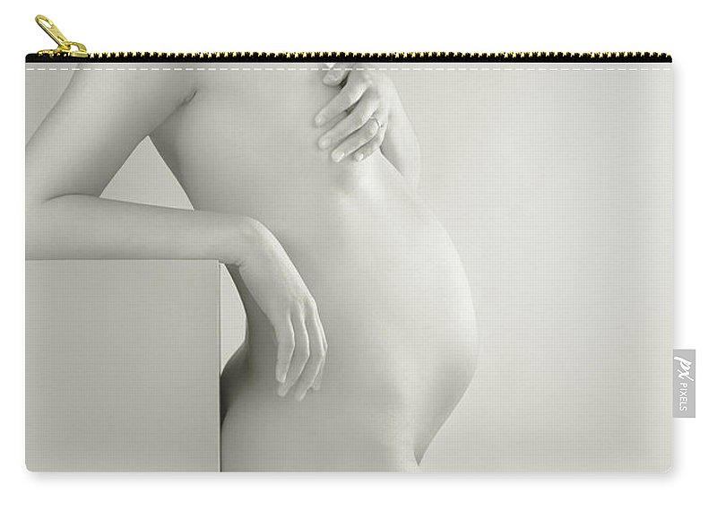 Pregnant Carry-all Pouch featuring the photograph Beautiful Pregnant Woman Body by Oleksiy Maksymenko