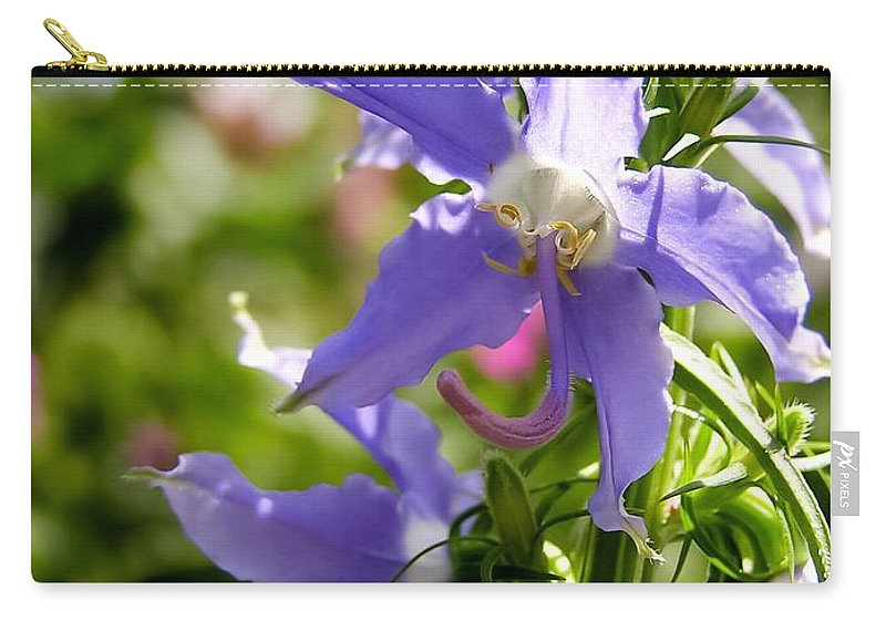 Tall Bellflower Carry-all Pouch featuring the photograph Tall Bellflower by Cynthia Woods