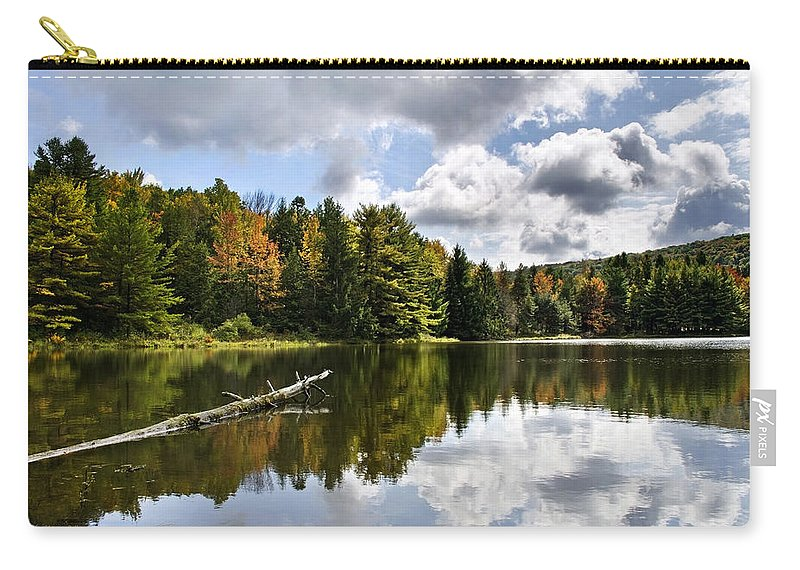 Fall Carry-all Pouch featuring the photograph Beautiful Reflections Landscape by Christina Rollo