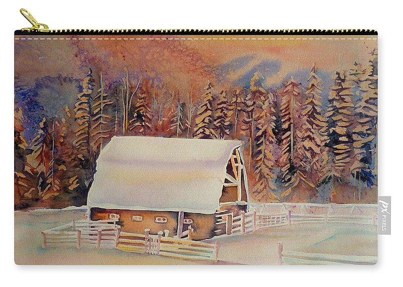Beautiful Skies Carry-all Pouch featuring the painting Beautiful Skies by Carole Spandau