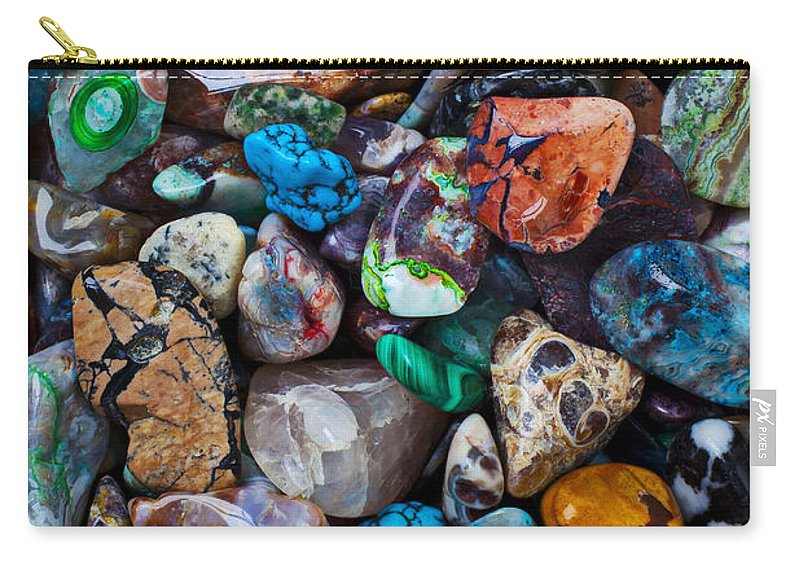 Stone Carry-all Pouch featuring the photograph Beautiful Stones by Garry Gay