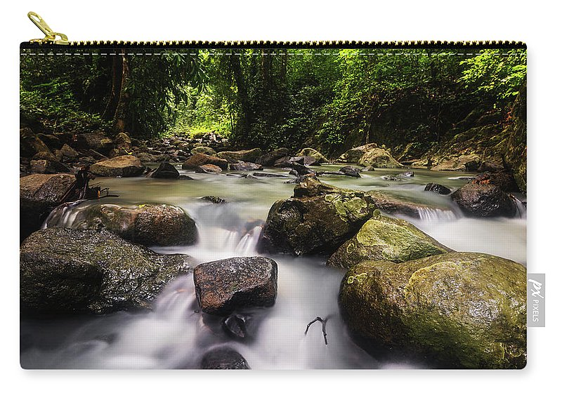 Stream Carry-all Pouch featuring the photograph Beautiful Stream In Western Ghats Region Of Karnataka India by Vishwanath Bhat