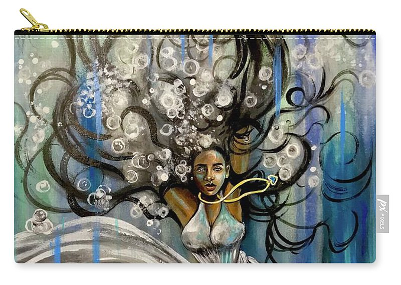 Artist_ria Carry-all Pouch featuring the painting Beautiful Struggle by Artist RiA