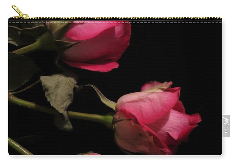 Floral Carry-all Pouch featuring the photograph Beautiful Two Tone Roses 4 by Tara Shalton