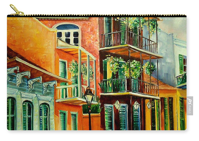 New Orleans Carry-all Pouch featuring the painting Beautiful Vieux Carre by Diane Millsap