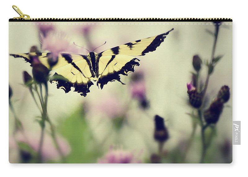 Butterfly Carry-all Pouch featuring the photograph Beauty And Grace by Kerri Farley